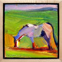 "Spring Grazing Dana Hooper  7"" x 7"" oil on canvas $600"