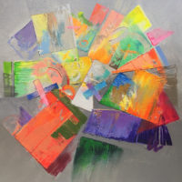 "Equinox Jack Roberts  50"" x 50"" acrylic on canvas $4500"