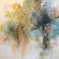 "Fragments of Nature 2 Debora Stewart  40"" x 40"" acrylic on canvas $3525"