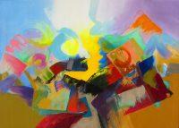 """Arroyo Arizona Jack Roberts 50"""" x 70"""" acrylic on canvas $5000"""