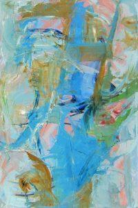 """Light Azul Monika Rossa 48"""" x 72"""" oil on canvas $4400"""