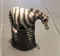 "Alan Potter Medium Zebra  9"" x 6"" x 3"" ceramic $92"