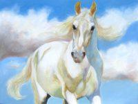 "Cloud Bourne Chaille Trevor 30"" x 40"" oil on canvas $2000"