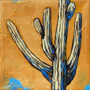Small Saguaro II by Diane F Barbee