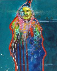 "Yellow Hands Robe Jim Nelson 40"" x 30"" acrylic on panel $5935"