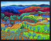"Unfolding Fields Cathy Carey 25"" x 31"" oil on canvas $2150"