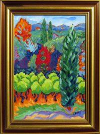 """Roussillon Cathy Carey 20.5"""" x 16.5"""" acrylic on canvas $820"""