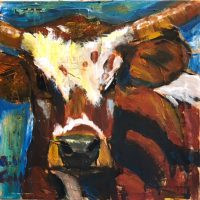 "Klute Bill Colt 12"" x 12"" mixed media on canvas $290"