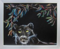 "Night Roamer Laurelea Kim 18"" x 22"" oil on canvas $425"