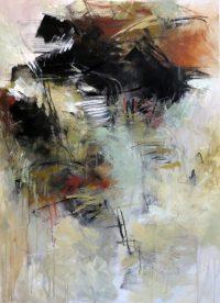 "Granite and Moss 3 Debora Stewart 40"" x 28"" acrylic on canvas $2550"