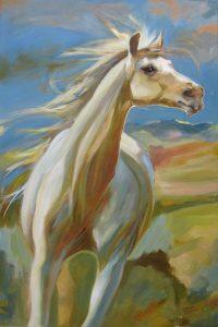 """Joyspell Chaille Trevor  36"""" x 24"""" oil on canvas $1575"""