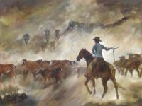 """Last of a Breed Chaille Trevor  30"""" x 40"""" oil on canvas $2000"""