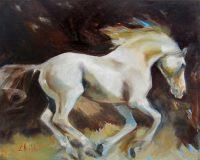 """Free Spirited Chaille Trevor  16"""" x 20"""" oil on canvas $520"""