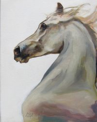 """Nobility Chaille Trevor  14"""" x 11"""" oil on canvas $425"""