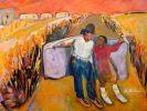 """Slow Dancing Home II, Ka Fisher 48"""" x 60 acrylic on canvas"""