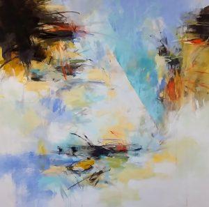 """Nature Fragments 5, Debora Stewart 46"""" x 46"""" acrylic on canvas"""
