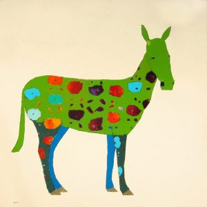 "Green Horse by Trevor Mikula 60"" x 60"""