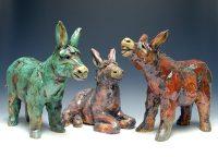 """Tres Colores Kari Rives 10"""" x 13"""" x 3"""" each clay $1850"""