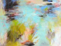 "River Grasses Debora Stewart 36"" x 48"" acrylic on canvas $3800"