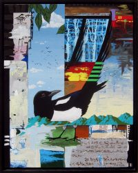 """Sunset (Magpie) Timothy Chapman 21.25"""" x 17.25"""" acrylic on canvas $1150"""