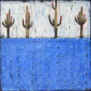 """Saguaro Quad by Nancy Pendleton 12"""" x 12"""""""