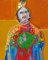 "The Watcher Jim Nelson 30"" x 24"" acrylic on panel $3250"
