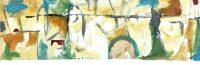 "Tropical Getaway Kathy Rorie 12"" x 36"" acrylic on canvas $450"