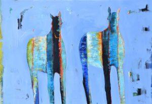 "Blue Deux by Brenda Bredvik 44"" x 64"""