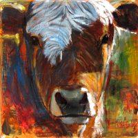 "Lolita Bill Colt 36"" x 36"" mixed media on canvas $2250"