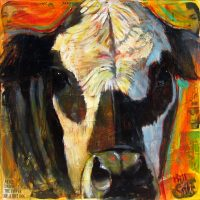 "Bandido Bill Colt 36"" x 36"" mixed media on canvas $2250"