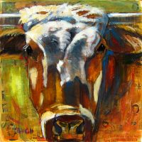 "Casper Bill Colt 36"" x 36"" mixed media on canvas $2250"