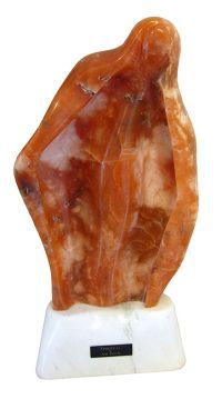 """Spiritual Jess Davila 20.5"""" x 9.5"""" x 4.5"""" Utah alabaster/marble base $5100"""
