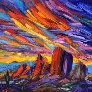 """Rhythym of the Day by Greg Dye 48"""" x 48"""""""
