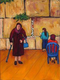 "The Western Wall II Judy Feldman 16"" x 12"" oil on canvas $490"