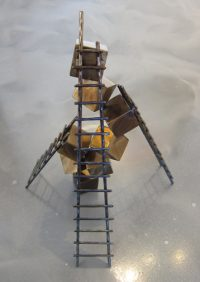 """Ascent Ken Kasten 18"""" x 14"""" x 14"""" Steel with Patina and Clearcoat $1800"""