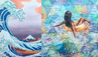 "Oceanus Andrea Peterson 36"" x 60"" oil on canvas $3500"