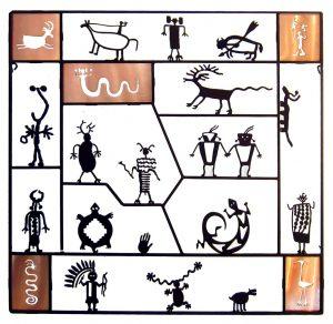 Petroglyph Screen with Copper by Doug Weigel