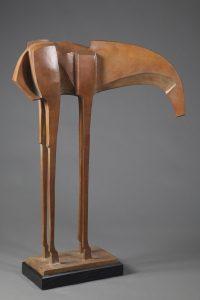 "Pecos by Wayne Salge, 38"" x 24"" x 15-1/2"", cast bronze"