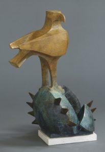 "Sonora by Wayne Salge, 24-1/2"" x 16"" x 15"", cast bronze"