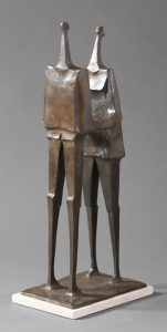 "Together by Wayne Salge, 26-1/4"" x 11"" x 8"", cast bronze"