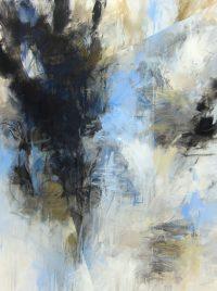 """Fractured Nature Debora Stewart  48"""" x 36"""" acrylic on canvas $3900"""