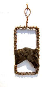 Horse Pendant I by Lisa M. Gordon