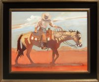 """A Gentle Lead Peggy Judy 26.5"""" x 30.5"""" oil on canvas $2,400"""