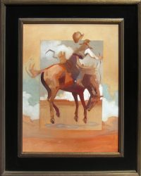 """Rough Start Peggy Judy 26.5"""" x 22.5"""" oil on canvas $1,600"""