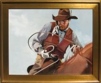 """The Roping Glove Peggy Judy 30"""" x 36"""" oil on canvas $3,600"""