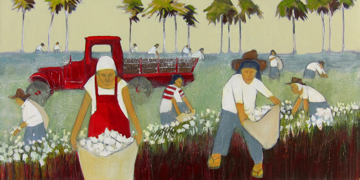 """Cotton by Peggy McGivern 24"""" x 48"""""""