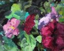 Petunias in Shades of Pink and Burgundy by Sarah Webber
