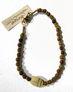 Agate Scarab necklace by Joan Robinson