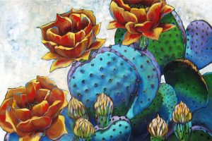 "Prickly by Diane F Barbee 24"" x 36"""