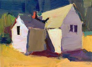 """Dana Hooper, """"August House"""", 7 x 9"""", oil,"""